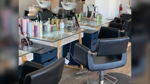 Hair salons and barbershops in much of Manitoba will be able to reopen on Saturday under revised public health orders. (CTV News Photo Jamie Dowsett)