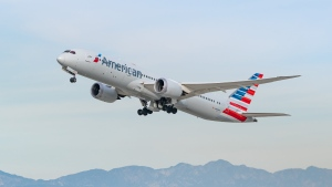 American Airlines Boeing 787-9 takes off from Los Angeles international Airport on January 13, 2021 in Los Angeles, California. (AaronP/Bauer-Griffin/GC Images/Getty Images via CNN)