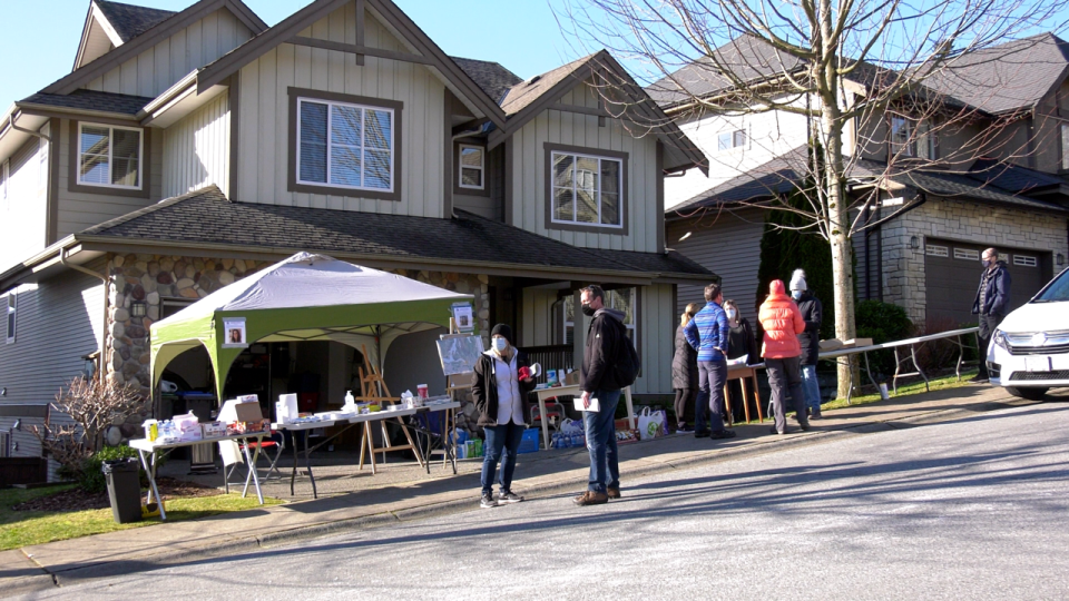Volunteers have been showing up all day long at a community-based command centre in Port Moody's Heritage Mountain neighbourhood, as a large local search effort continues for missing woman Trina Hunt. (CTV)