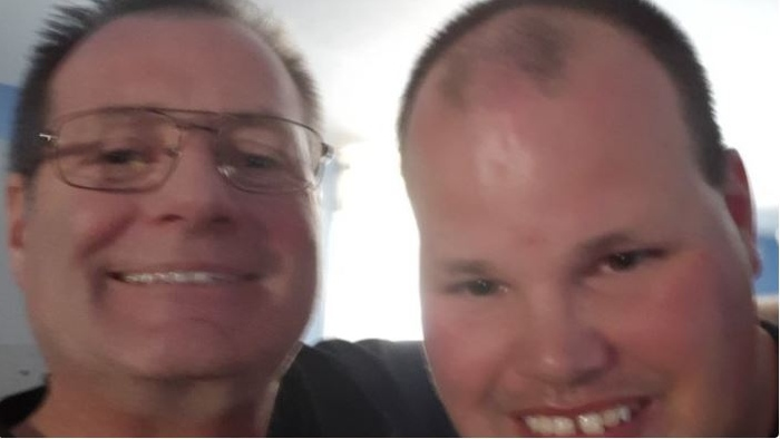 Frankie MacDonald and dad