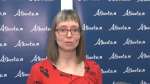 Chief Medical Officer of Health Dr. Deena Hinshaw first talked to media about the coronavirus on Jan. 21, 2020. (CTV News Edmonton)