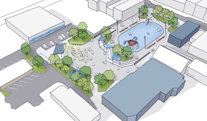 The $500,000 investment will go to helping the city create its 6,300-square-metre Civic Plaza, a $6.6 million project. (Supplied)