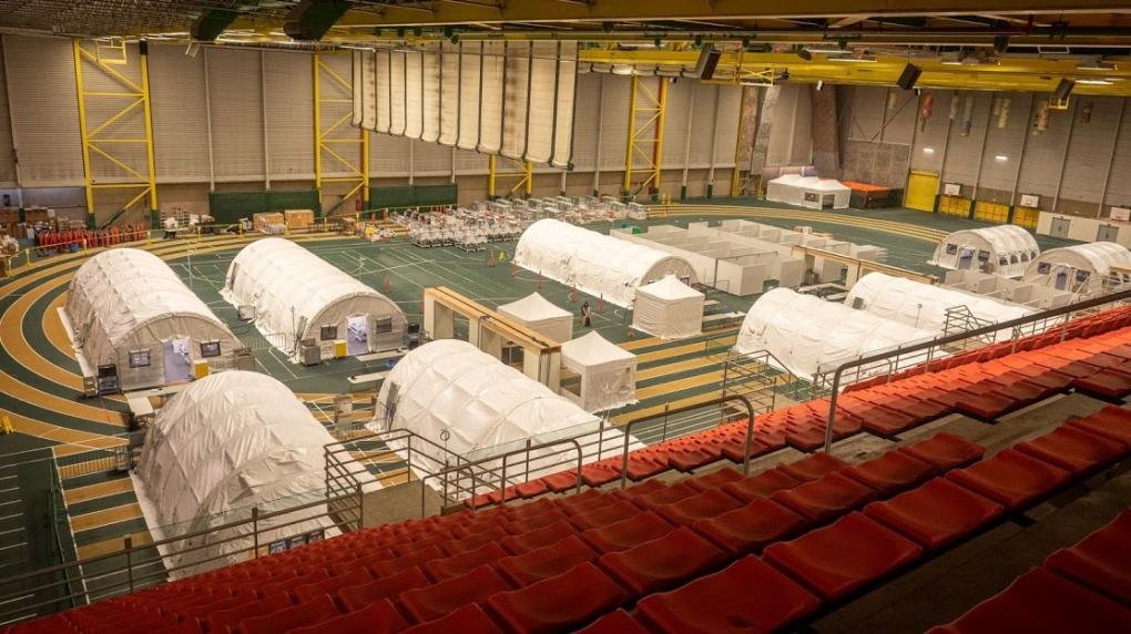 field hospital Edmonton Alberta COVID-19