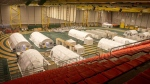 Alberta Health Services announced a field hospital, built with the Canadian Red Cross' help at the University of Alberta's Butterdome, was complete and ready on Jan. 21, 2020. (Credit: Alberta Health Services)