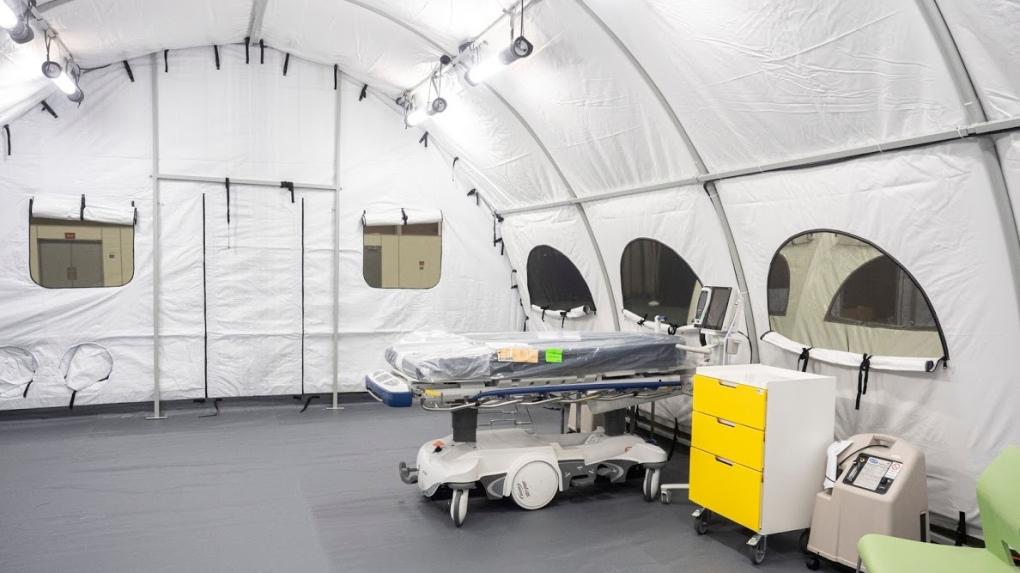 Edmonton Alberta COVID-19 field hospital