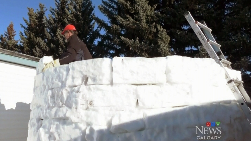 A snow castle rises in Black Diamond