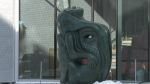New WAG sculpture in downtown Winnipeg