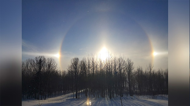 Sundog overlooking York Landing. Photo by Vince Beardy.