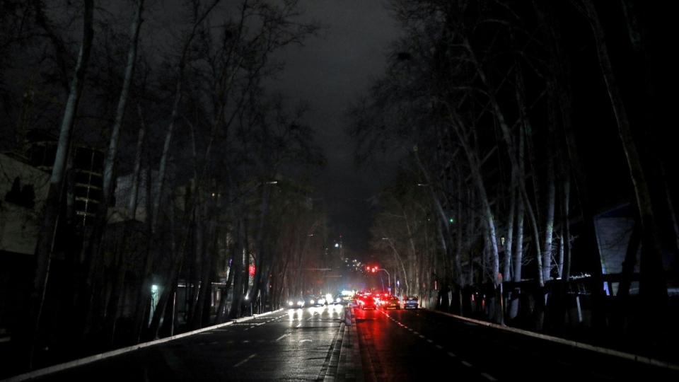 Power outage in Tehran, Iran, on Jan 20, 2021