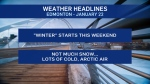 Jan. 22 weather headlines