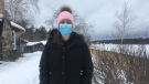 Caitlin Nobbs of Great Escape Cabins on the French River in Alban, ON. Jan. 21/21 (Alana Everson/CTV Northern Ontario)