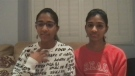 Twins Kiran and Nivi say they started singing befo