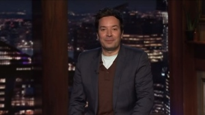 The Tonight Show Starring Jimmy Fallon picked up on the Langford jail story on Thursday, Jan. 21, 2021. (CTV)