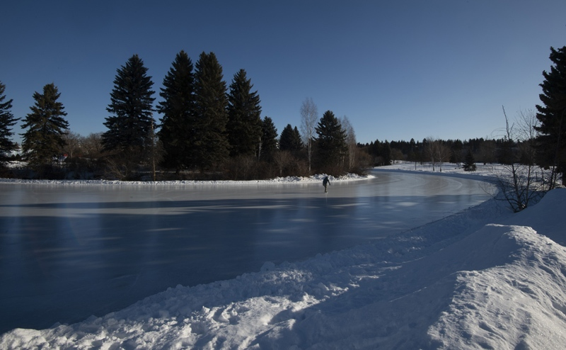 The city has opened Hawrelak Park Lake for skating for the 2021 winter season. (City of Edmonton)