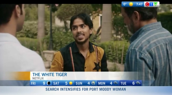 Movies, the white tiger