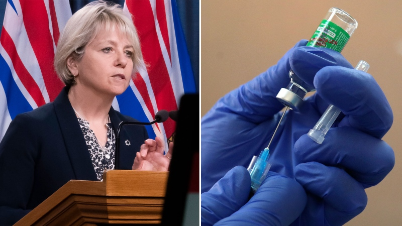 Dr. Bonnie Henry is seen in this combination image. (Images via The Canadian Press)