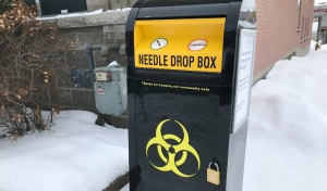 Community Counselling Centre of Nipissing is providing a community sharps bin in North Bay, the group announced Friday. (Alana Pickrell/CTV News)