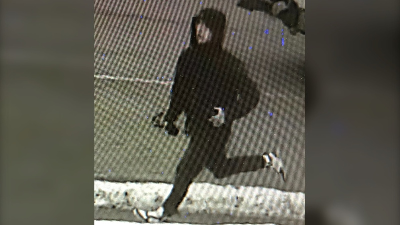 The suspect in a hit and run on Essa Road in Barrie, Ont. on Thursday, January 21, 2021 (Barrie Police)