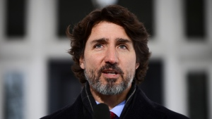 Prime Minister Justin Trudeau holds a press conference at Rideau Cottage in Ottawa on Friday, Jan. 22, 2021. THE CANADIAN PRESS/Sean Kilpatrick