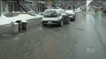 Water main break floods busy Montreal street