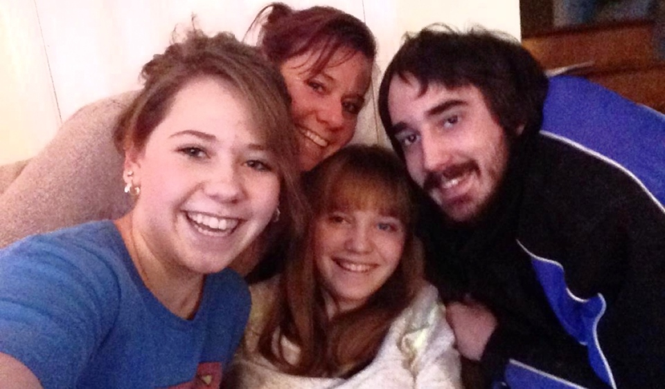 The Ransom family is seen in happier times. Marley Ransom, 21, said her 28-year-old brother Cole died of a suspected overdose less than two weeks ago. He was found downtown Jan. 13. (Supplied)