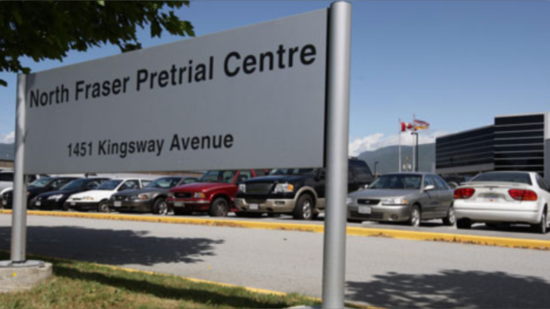 North Fraser Pretrial Centre is seen in this undated file photo. (CTV)