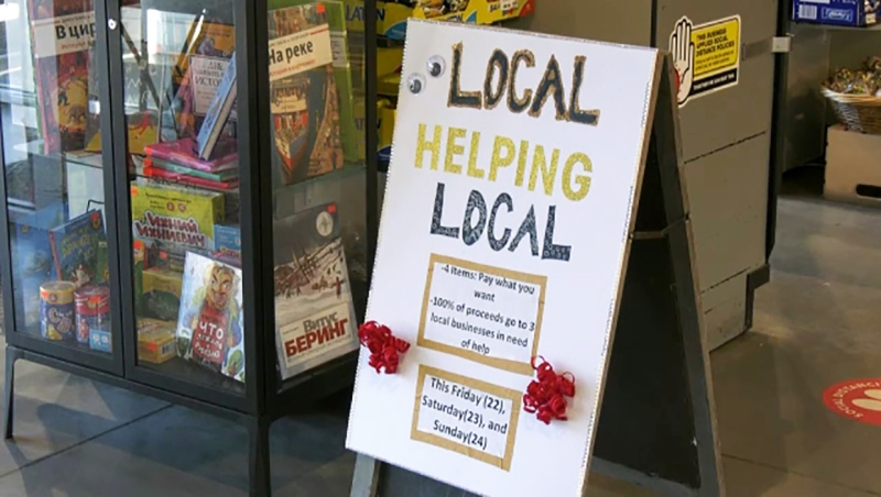 An independent Calgary grocery store is raising money this weekend to support three small businesses struggling to survive in the pandemic. Kevin Fleming reports