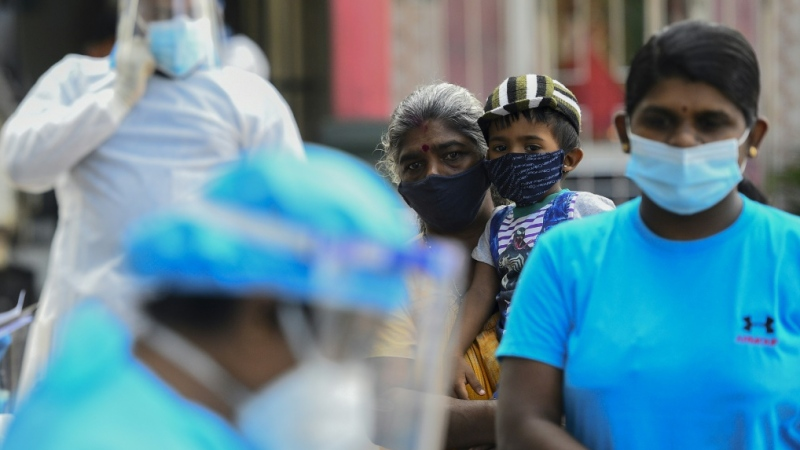 Sri Lanka is in the grip of a coronavirus surge, approving the emergency use of the vaccine developed by AstraZeneca and Oxford University on Friday. (AFP)