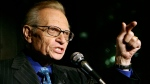 In this April 18, 2007 file photo, Larry King speaks to guests at a party held by CNN, celebrating King's fifty years of broadcasting in New York. King, who interviewed presidents, movie stars and ordinary Joes during a half-century in broadcasting, has died at age 87. Ora Media, the studio and network he co-founded, tweeted that King died Saturday, Jan. 23, 2021 morning at Cedars-Sinai Medical Center in Los Angeles.