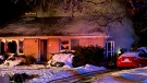 Emergency crews attend a house fire on Hartwood Avenue in Kitchener. (Jan. 22, 2021) (Terry Kelly/CTV Kitchener)