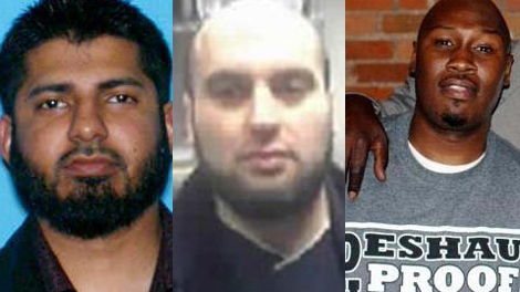 From left: Yassir Ali Khan, Muahammad Alsahli and Mujahid Carswell are seen in these photos made available by the U.S. Attorney's Office.