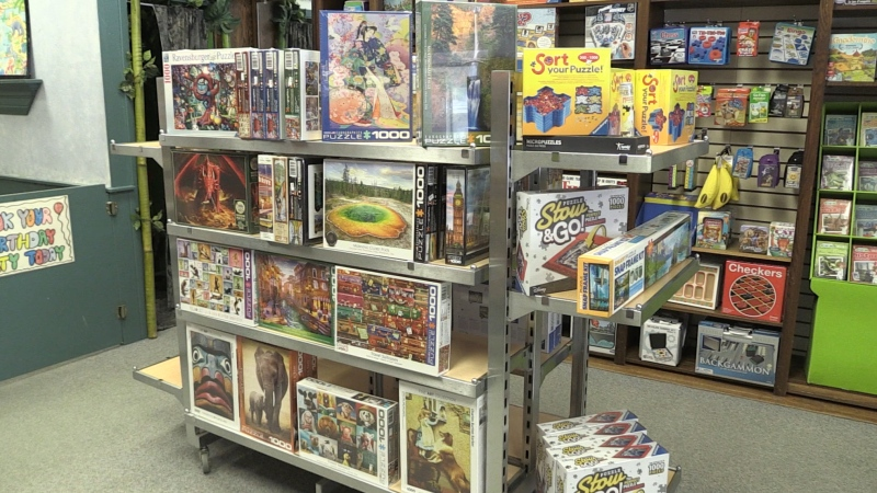 The Creative Learning store in North Bay says puzzles are flying off the shelfs and have been since March 2020. Jan. 23/21 (Alana Pickrell/CTV News Northern Ontario)