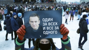 More than 2,500 people detained by police in Russia after demanding freedom for Kremlin critic Alexei Navalny.