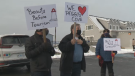 Peggy's Cove protesters