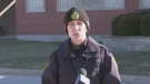 Constable Amanda Allen of the Essex County OPP says drug and human trafficking is a growing trend in our country - Saturday, January 23, 2021 (Alana Hadadean / CTV News)