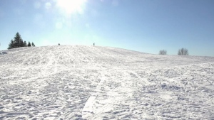 No one was spotted on Mooney's Bay Hill during the first day the City of Ottawa banned sledding at the popular hill. (Jeremie Charron/CTV News Ottawa)