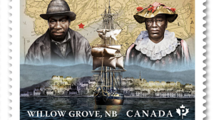 Canada Post is honouring two small communities with deep connections to Black history with commemorative stamps. (Canada Post)