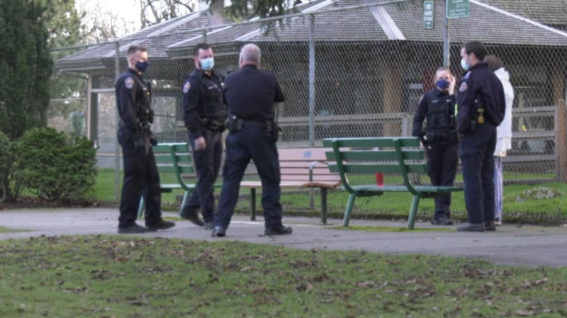Police in Victoria are investigating an assault and a fire at the homeless camp in Beacon Hill Park on Saturday. (CTV)
