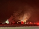 A fire in a home has forced the closure of part of MR 80 in Sudbury (Alex Lamothe/CTV Northern Ontario)