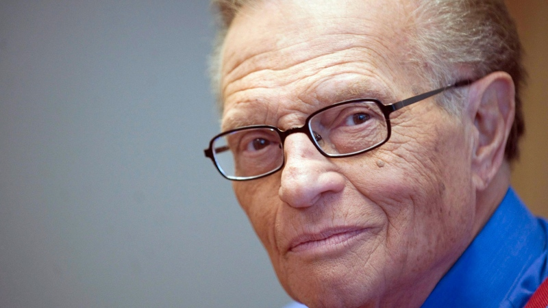 Talk show host Larry King attends a press conference in Montreal, Wednesday, October 6, 2010 where he spoke to reporters about his career.THE CANADIAN PRESS/Graham Hughes