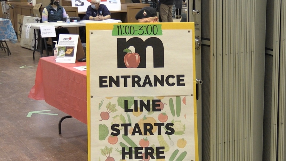 Sudbury Indoor Market organizers say there are many safety protocols which had to be put in place for the market to operate during the pandemic. Jan. 24/21 (Molly Frommer/CTV News Northern Ontario)