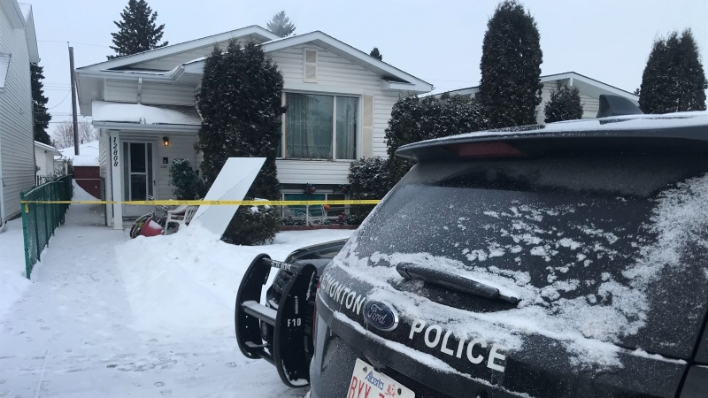 A home near 129 Street and 128 Avenue was the scene of a fatal assault Jan. 23, 2020. A man who was found unconscious in the home by officers died Sunday morning in hospital.