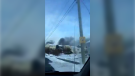 Tire fire in Eastern Passage, N.S.