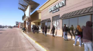 SHOPPERS LINE UP OUTSIDE KILDONAN PLACE MALL JAN 24