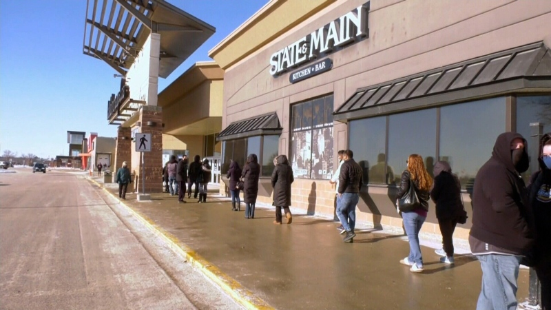 Rush to retailers in Manitoba