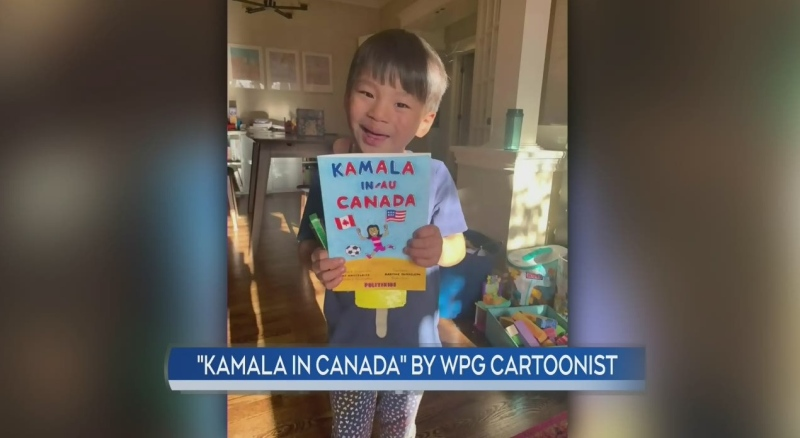 Winnipeg cartoonist creates 'Kamala in Canada'