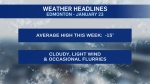 Jan. 25 weather headlines