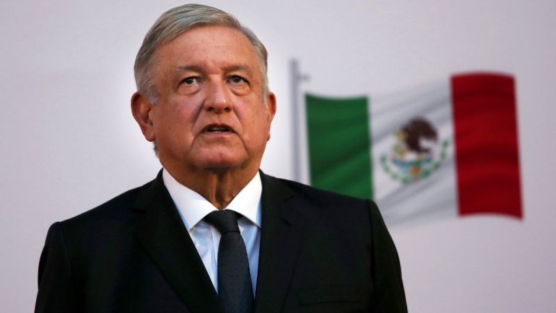 Mexican President Andrés Manuel López Obrador at the National Palace in Mexico City, on Dec. 1, 2020. (Marco Ugarte / AP)