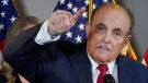 Former Mayor of New York Rudy Giuliani, a lawyer for U.S. President Donald Trump, speaks during a news conference at the Republican National Committee headquarters, on Nov. 19, 2020. (Jacquelyn Martin / AP)