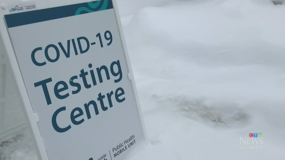 COVID-19 mobile testing unit in Wolfville, N.S.